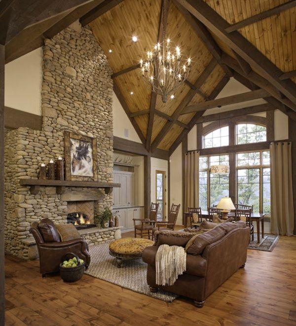 15 fotos de salas con paredes en piedra salas con estilo - Decoracion de paredes con piedra ...
