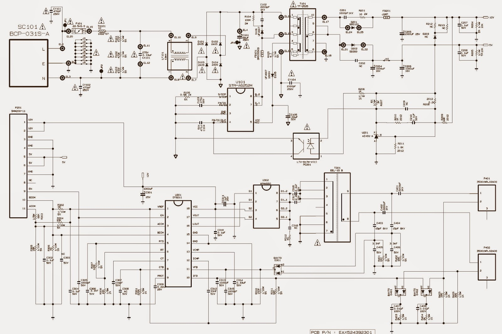 LG SMPS (Power Supply) SCHEMATICS - LM57G – LM91G – LM34K – SMPS ...