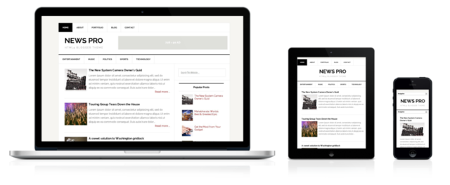 Chia sẻ News Pro Template - Mẫu Blogspot Responsive