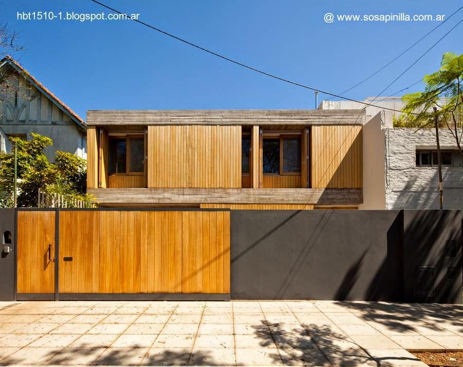 Casa residencial urbana contemporánea entre medianeras en Vicente López, Buenos Aires