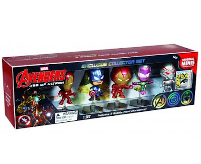 San Diego Comic-Con 2015 Exclusive Marvel Avengers Age of Ultron Original Minis Chrome Variant Vinyl Figure Box Set - Iron Man, Hulkbuster Iron Man, Captain America, Vision & Ultron