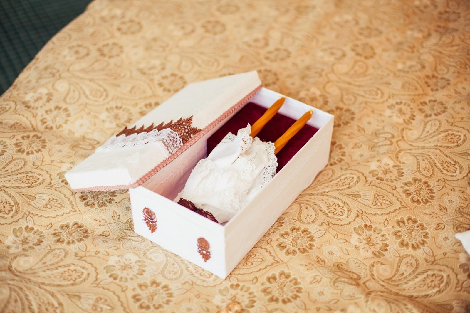 своими руками венчальный набор