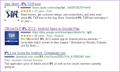 Search Mobile Apps directly in Google Search