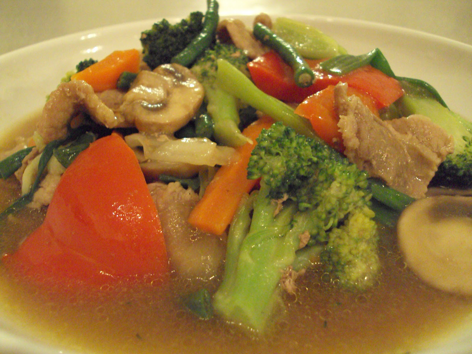 Chinese mixed vegetable dish are popular and common in chinese