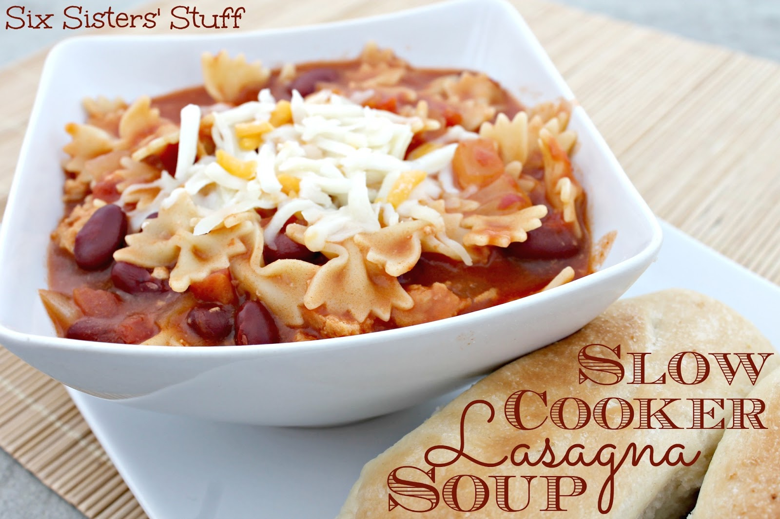 Slow Cooker Lasagna Soup Recipe | Six Sisters' Stuff