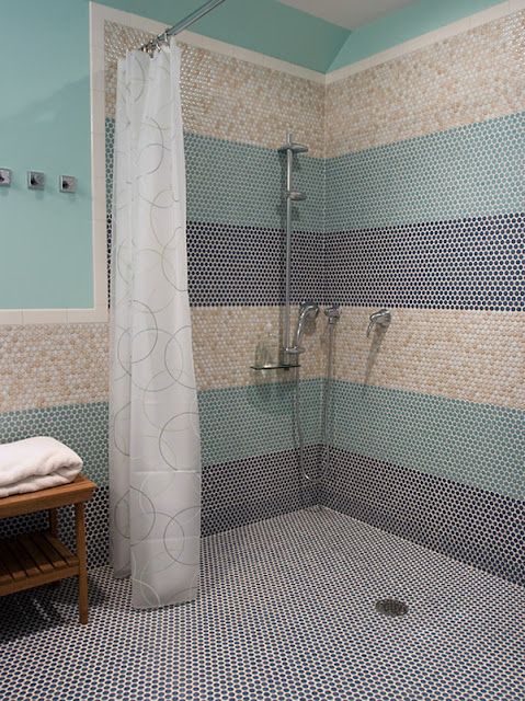 colorful mosaic tile patterns for modern bathroom shower