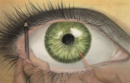 ... Eye - Coloring Tutorial - Video Lessons of Drawing & Painting