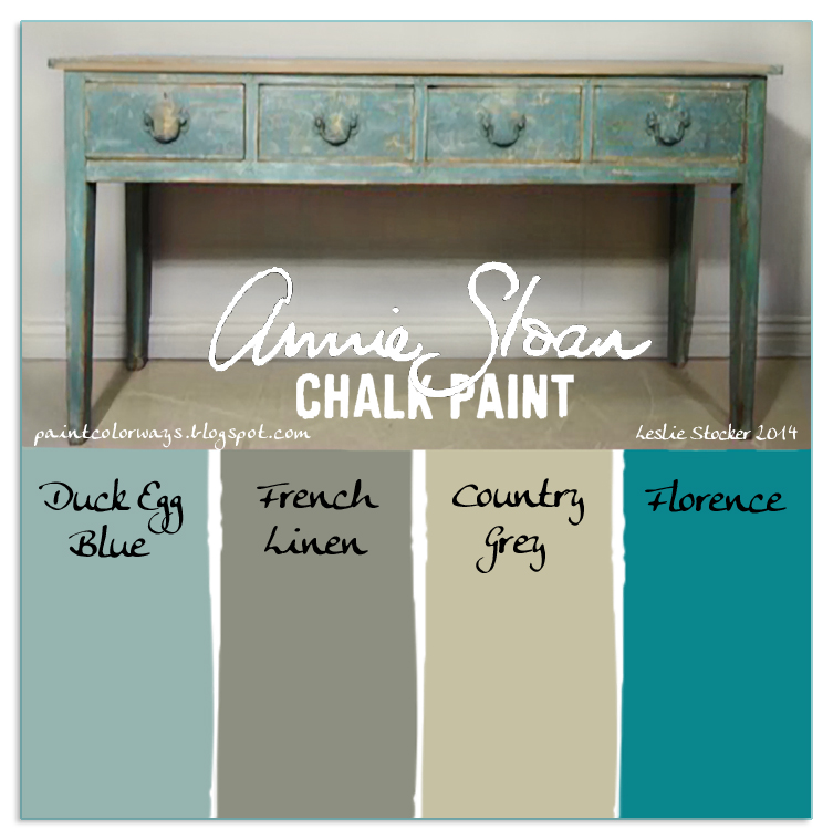 Console Table. A Little Chalk PaintⒸ Inspiration For Your Saturday.....If  You Are Looking For Ideas For Your Console You Can See More Posts Here