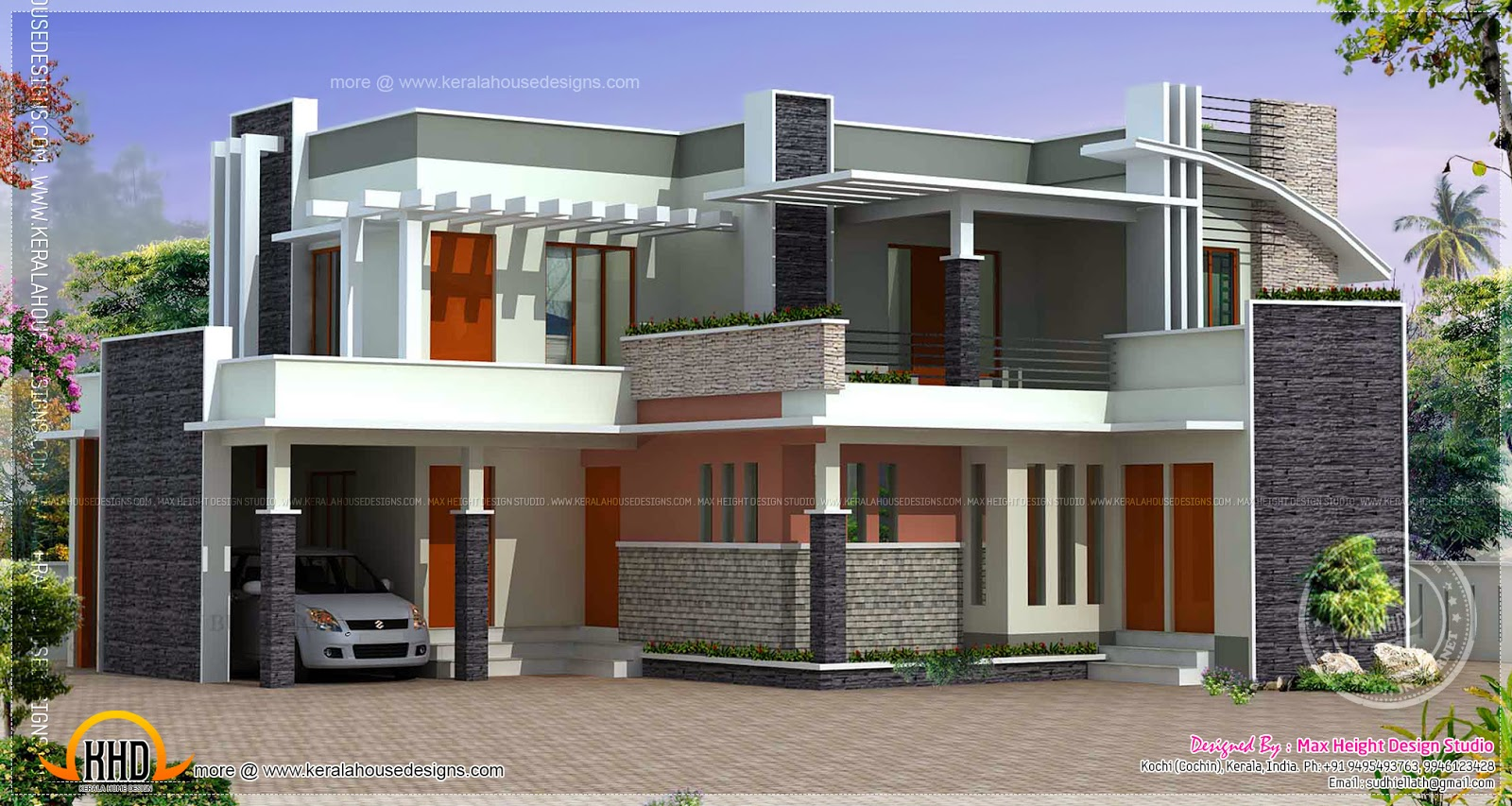 January 2014 kerala home design and floor plans for Cost to build a 2000 square foot house