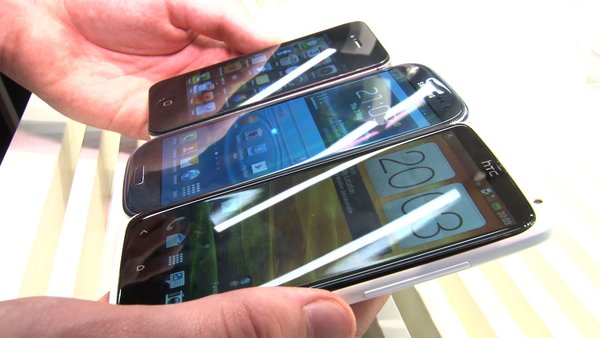 Samsung Galaxy S3, HTC One X, Samsung Galaxy Nexus, iPhone 4s