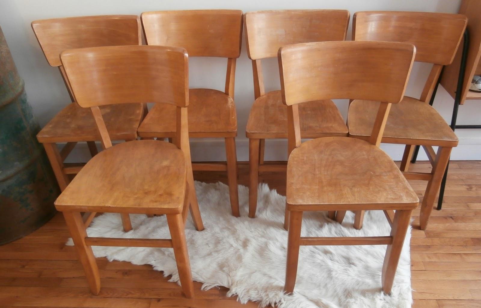 Dur e de vie ind termin e 6 chaises bistrot for Duree de vie d un chene