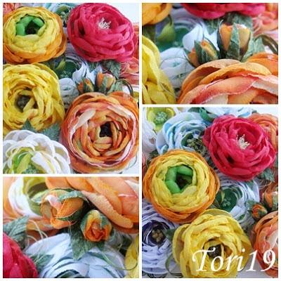 Цветы для ободка из ткани своими руками