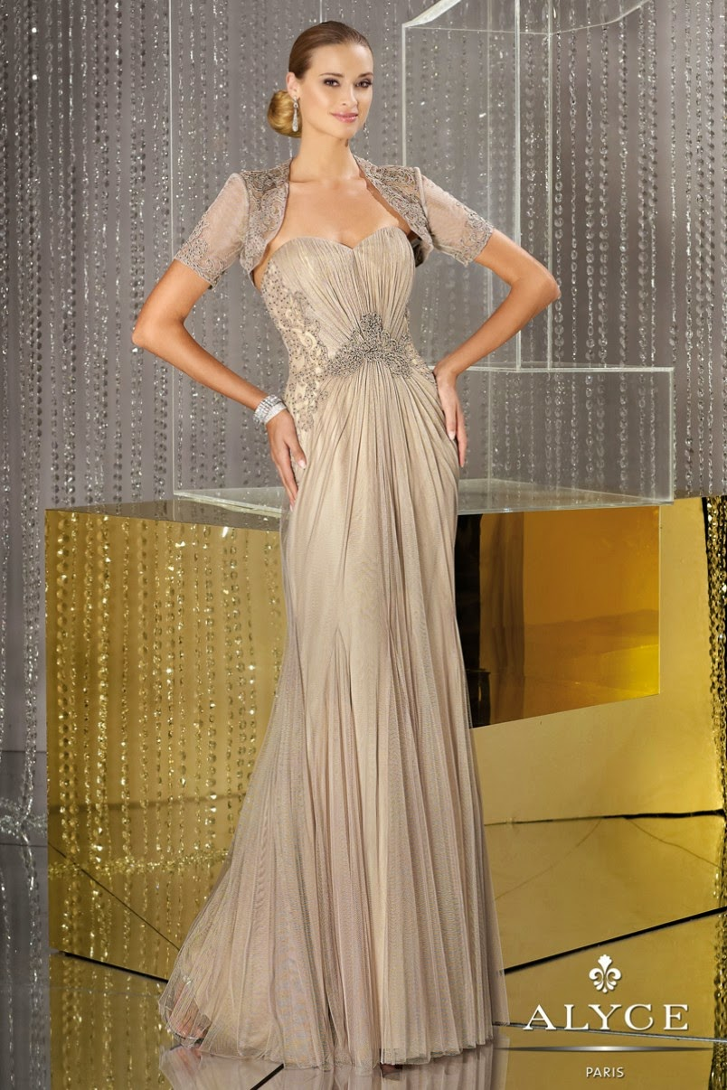 Mother of the Bride Dresses - Strapless sweetheart neckline pleated layered tulle over nude lining long mermaid dresses with beaded lace bodice