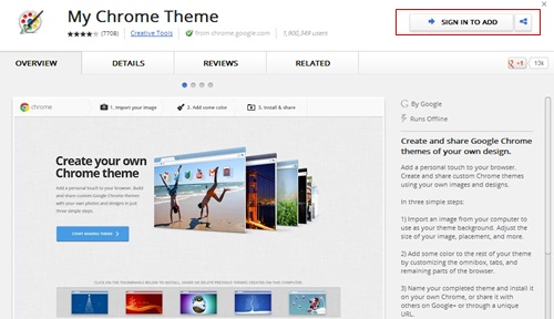 ekstensi my chrome theme
