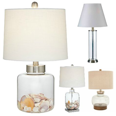 Fillable Glass Table Lamps in Different Shapes & Sizes
