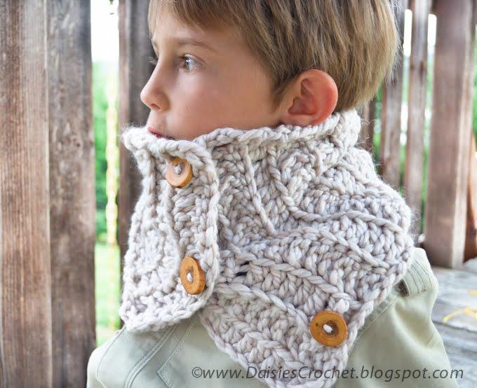 Daisies Crochet Crochet Scarf Pattern Woodland Cowl