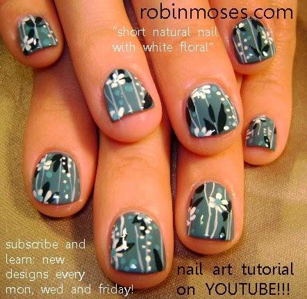 """robin moses nail art """"short nail art"""" """"natural nail art"""