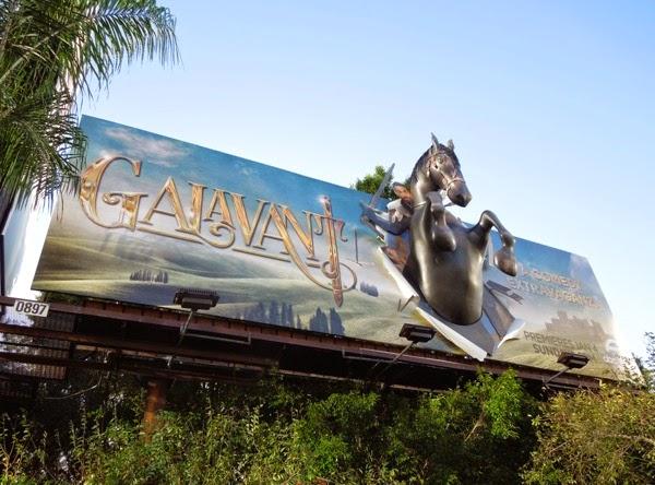 Galavant series premiere 3D horse billboard