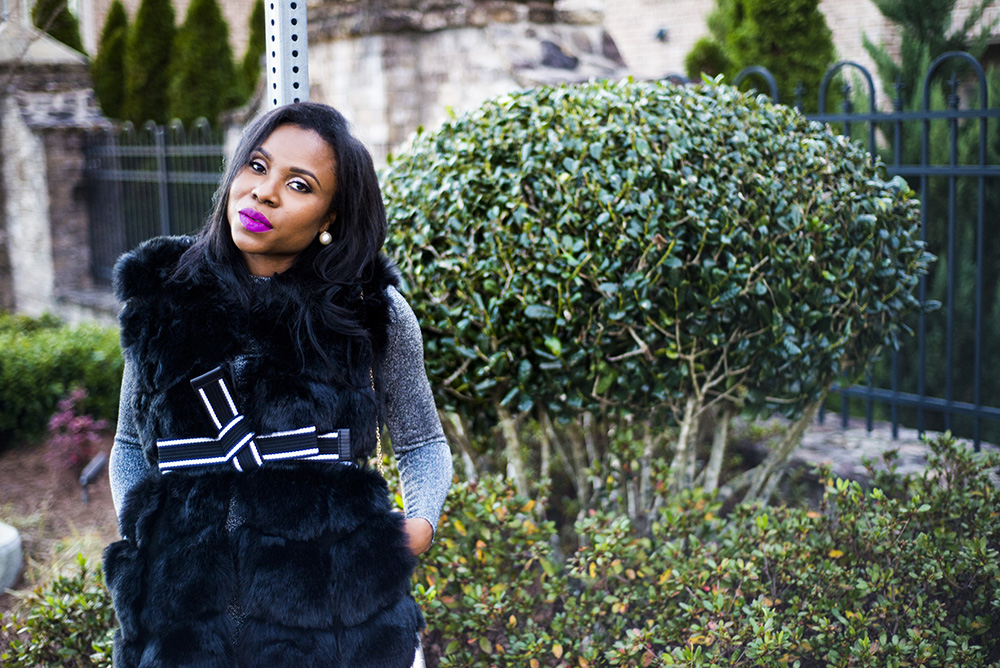 Glam Chic in Sparkle and Fur