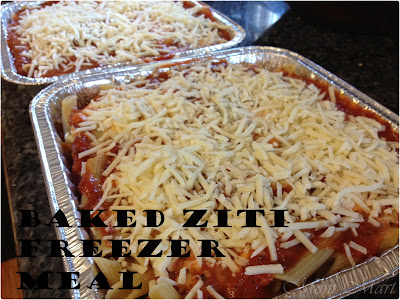 Baked Ziti Make Ahead Freezer Meal