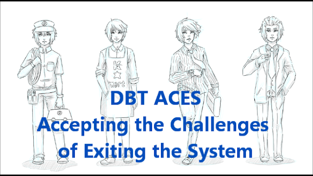 DBT ACES,borderline personality disorder,BPD ,mood swings,emotional,affective instability,unstable,accepting the challenges of exiting the system,work,education,study,program,recovery,remission