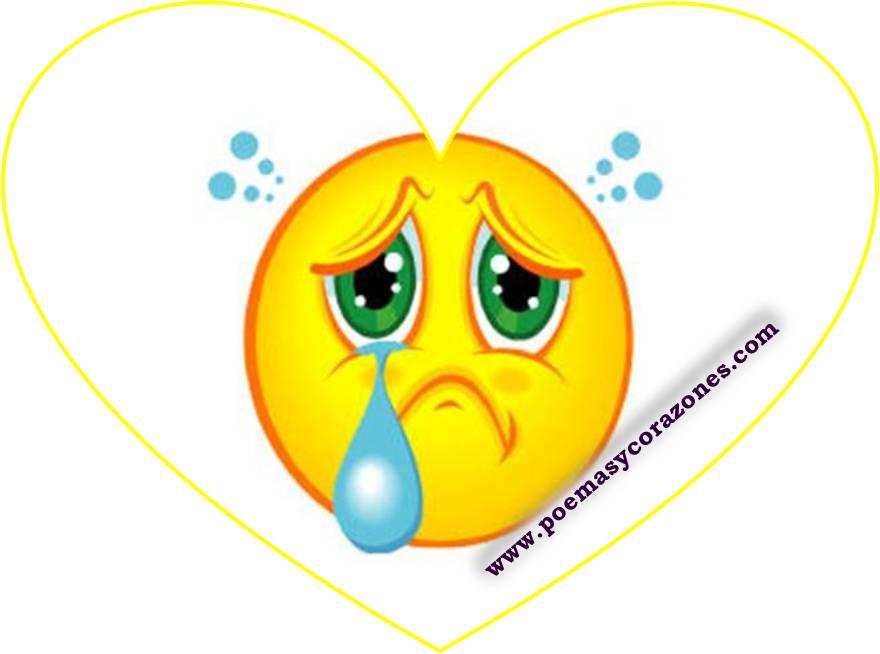 Caras tristes | Poemas y Corazones