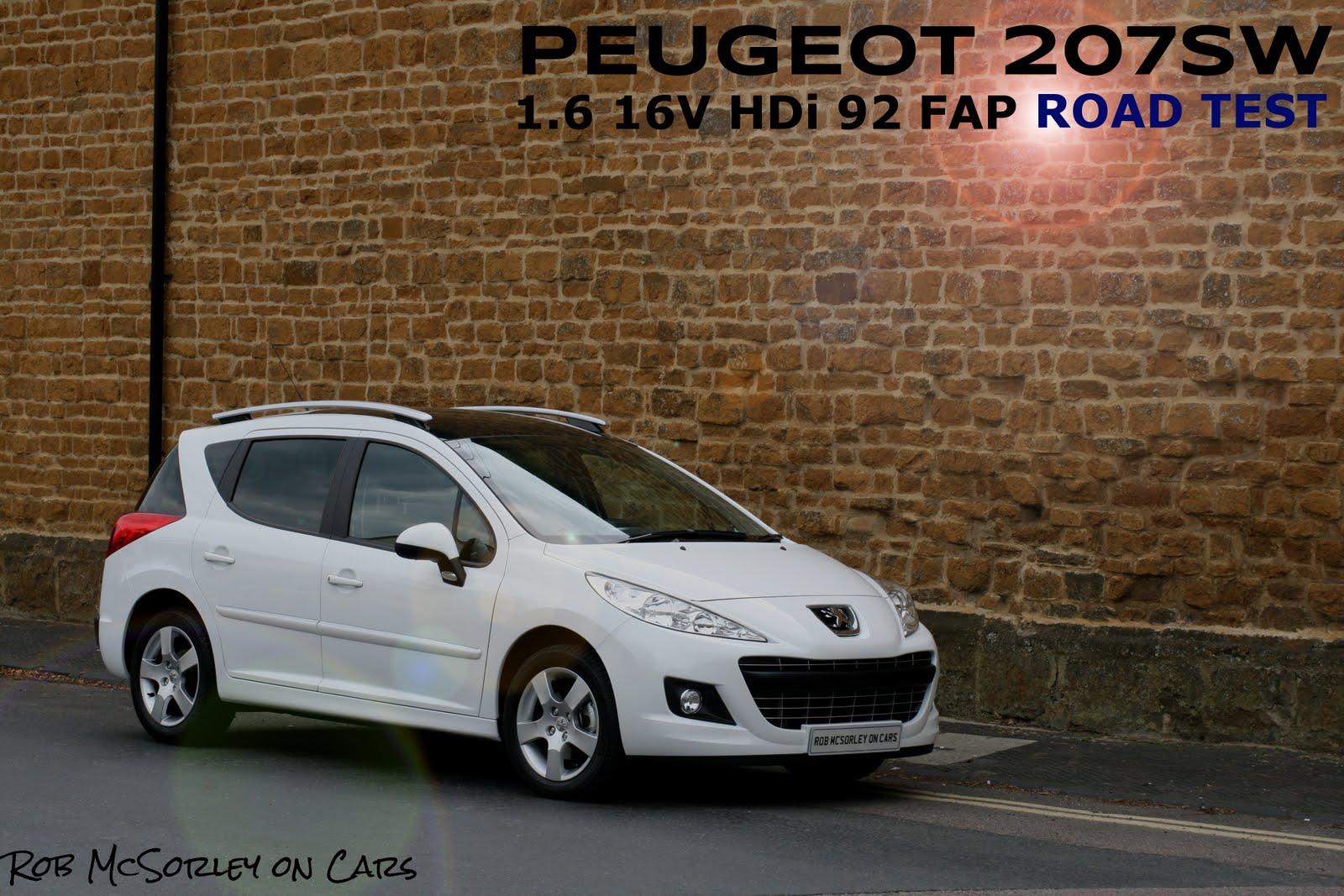 Robmcsorleyoncars 2011 Peugeot 207 Sw Full Road Test