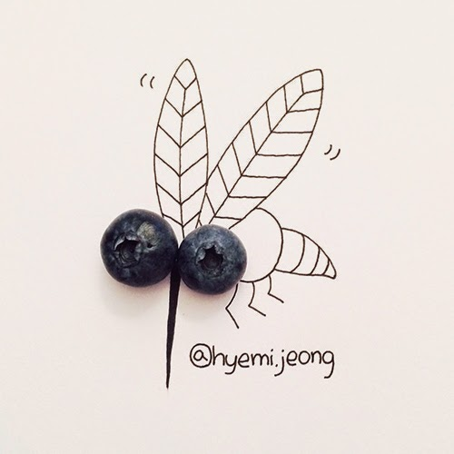 14-Blueberry-Mosquito-Hyemi-Jeong-Everyday-Things-to-Draw-With-www-designstack-co