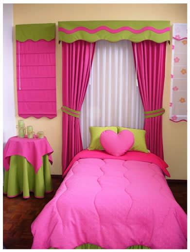 Flor das fadas by f tima nogueira cortinas para quartos - Cortinas dormitorio juvenil ...