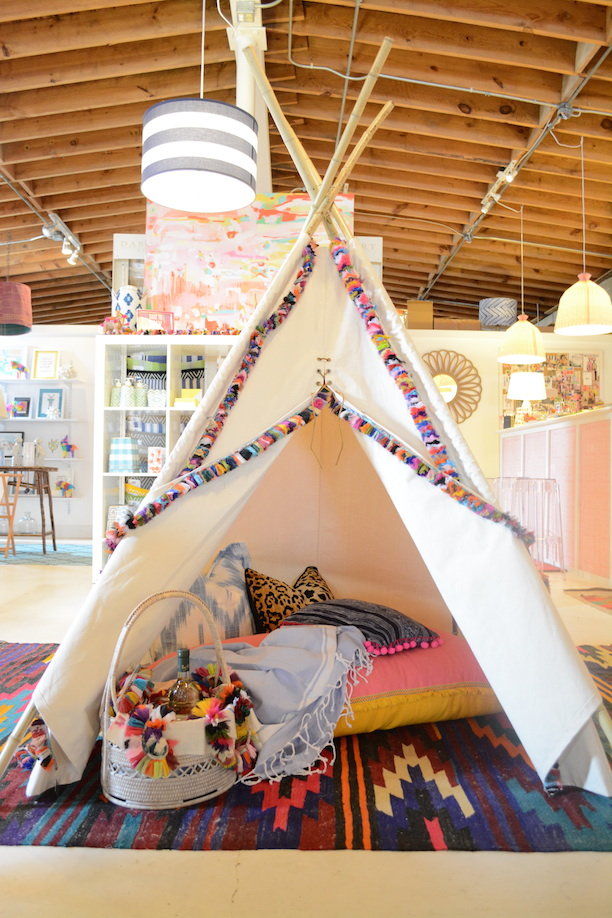 Grown-Up Tee Pee + Tassel Garlands Boho Picnic  | Southern Arrondissement