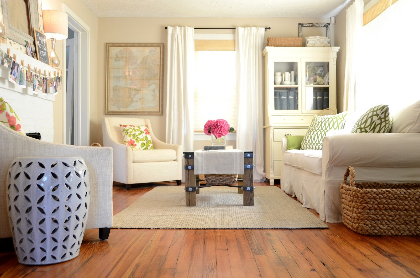 Iron twine living room update for Update living room ideas