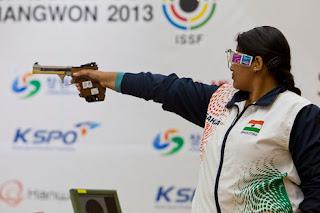 Rahi Sarnobat - Índia - Pistola 25m - Copa do Mundo ISSF 2013 - Tiro Esportivo