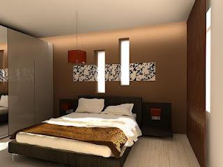 dormitorios en marrón y beige