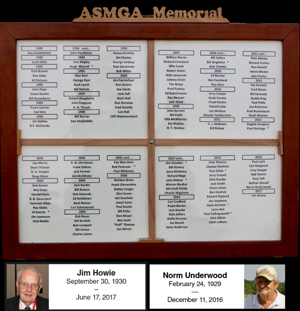 Memorial Plaque w/Jim Howie & Norm Underwood