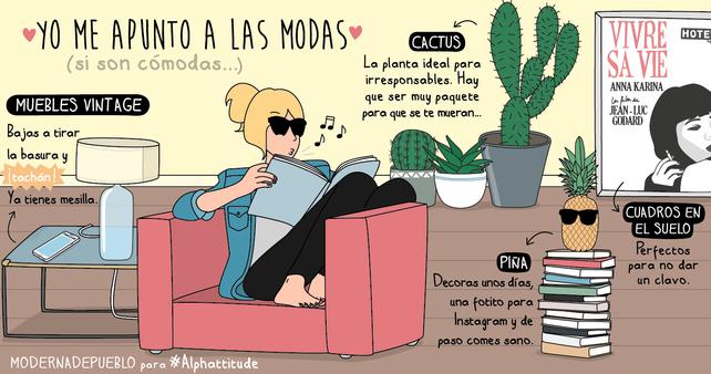 Ilustración Moderna de Pueblo