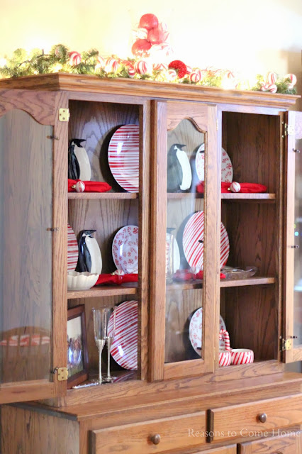 Christmas China Cabinet Decorations