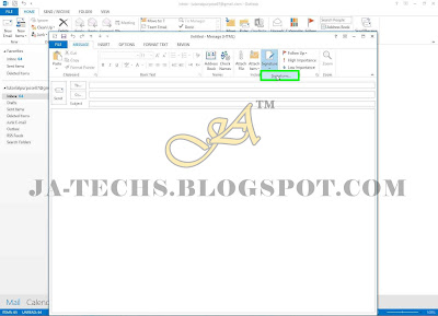Auto Add Signature in MS Outlook Emails - Step 3