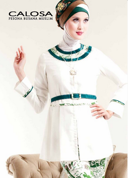 Dress Brokat Muslim Terbaru 2015
