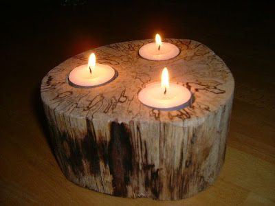 Candle Holder, Natural Handicraft