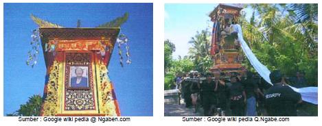 Gambar kiri: Lembu dan gambar kanan: Bade