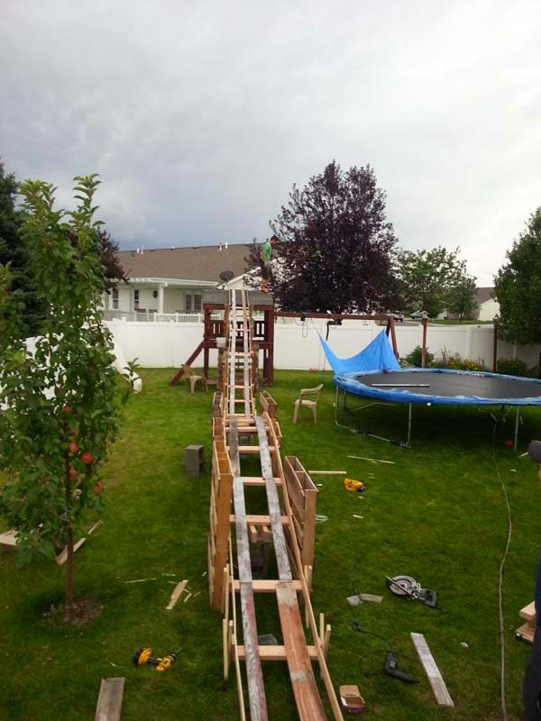 Roller Coaster In My Backyard : the 50 dollar back yard roller coaster! (never bet someone CANT do