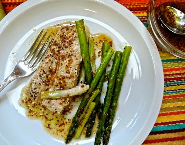 ... Lemon: Roasted Mahi-Mahi and Asparagus with Maple-Mustard Vinaigrette