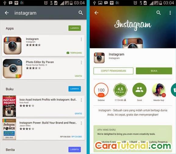 Cara Daftar / Membuat Akun Instagram di Android