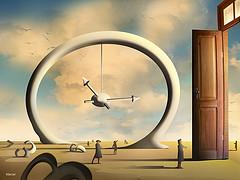 a porta, o tempo e o espaço por marcarambr