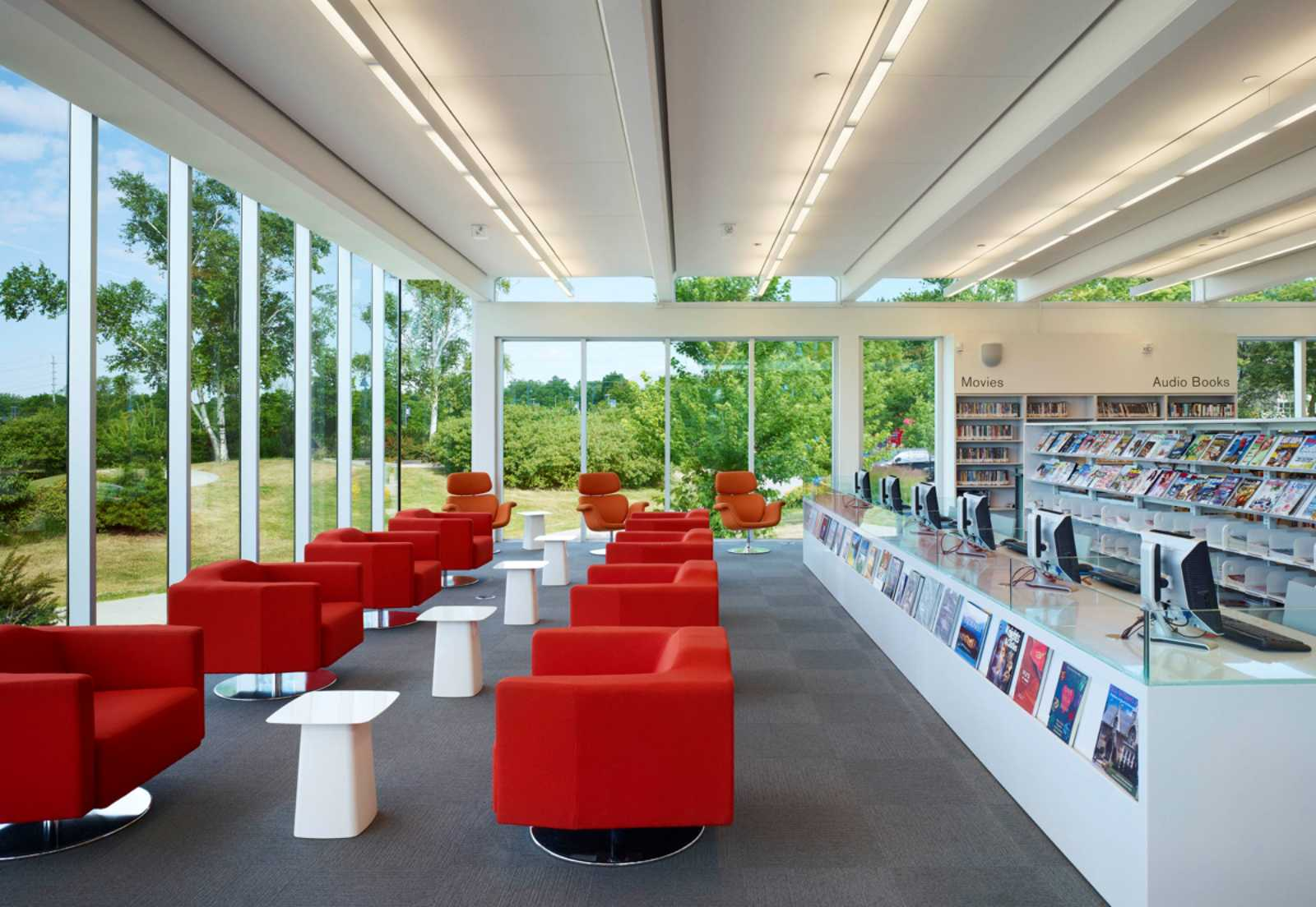 Mississauga public library by rdh architects for Library designs interior
