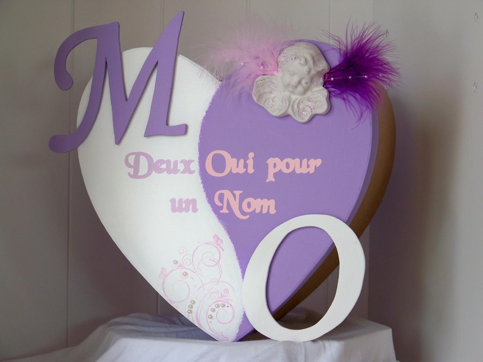 Urne mariage coeur ange parme rose et blanche l 39 atelier for Decoration urne de mariage