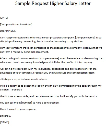 Sample Letter To Request Salary Increase Cover Letter Example Letter ...