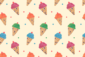 Fun Ice Cream Pattern  by Haidi Shabrina