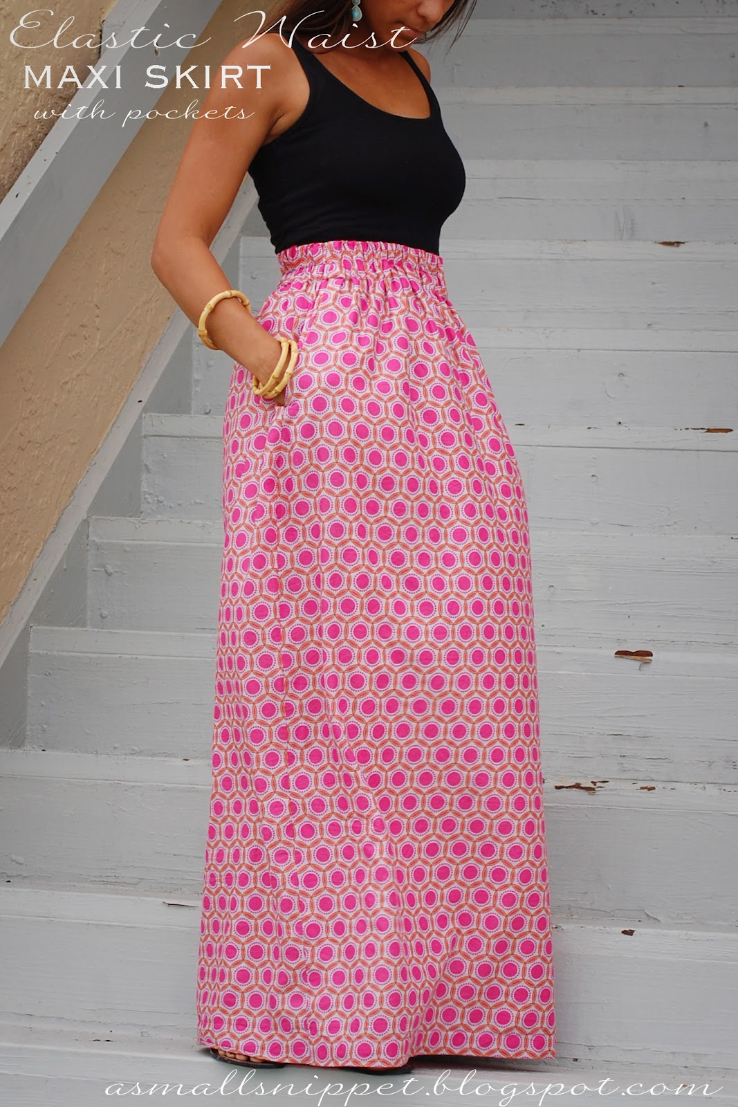 maxi skirt with pockets sewing pattern