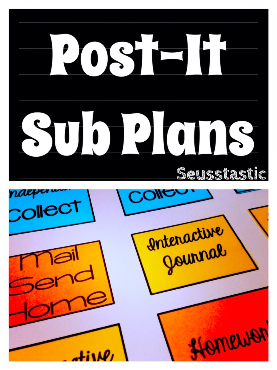 Post It Sub Plans